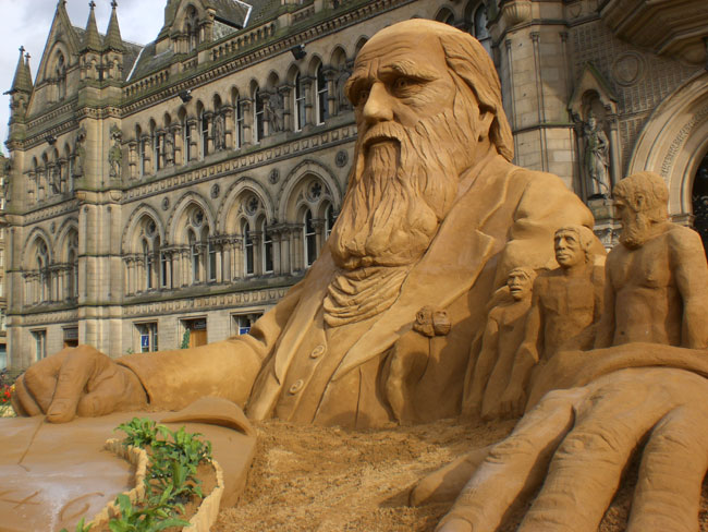 Darwin standing proud in front of Bradford City Hall