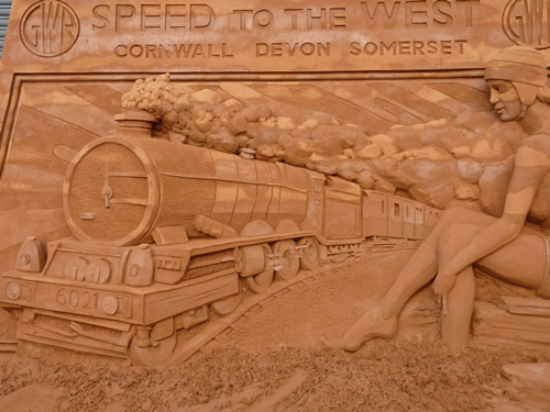 National Railway museum sand sculpture
