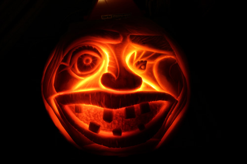 Carved Pumpkin head