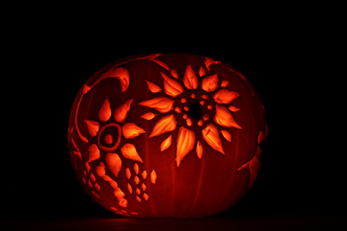 flower design pumpkin carving uk