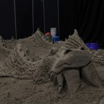 Group Sea Dragon Sand Sculpture