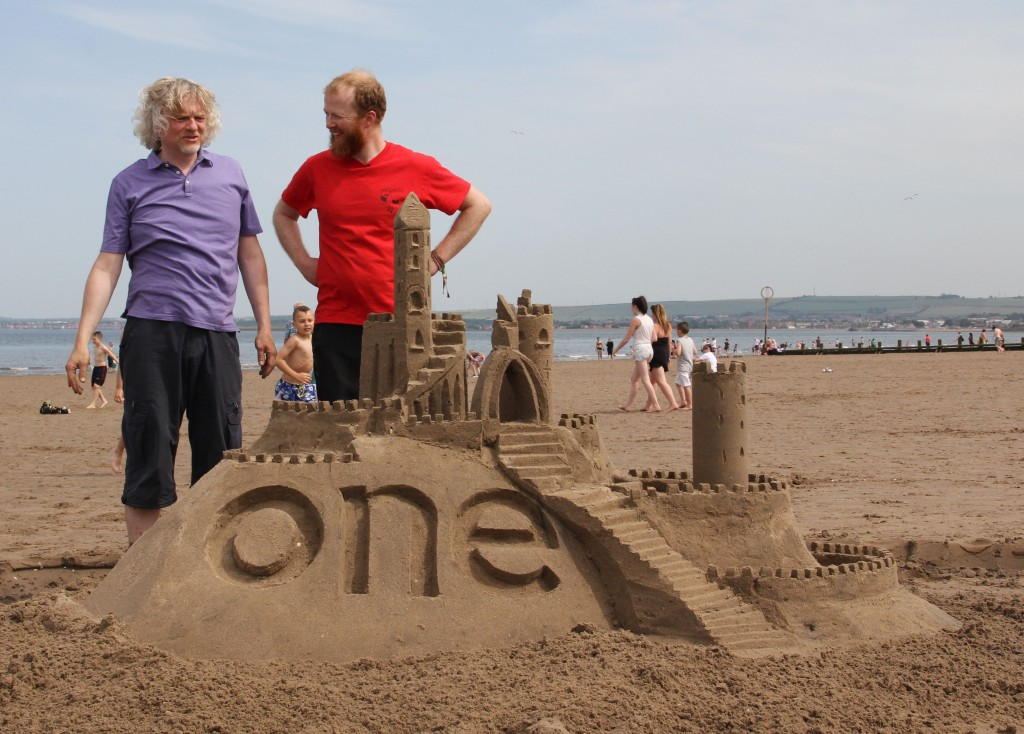 Sand Castle Building with The One Show