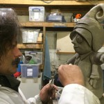 Andy Moss making sculpture