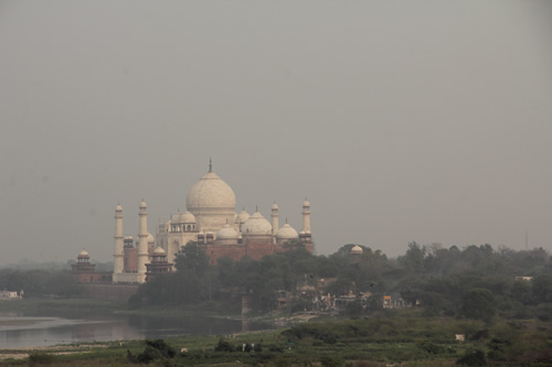 The Taj Mahal from a distance