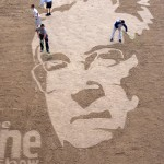 The Randy Newman Sand Drawing for BBC's the One Show