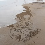 Michelle Akerley sand drawing