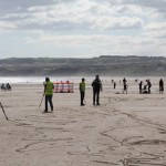 Drawing on the beach for CBBC's Totally Tubbish