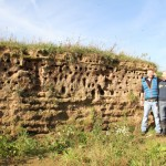 Mike Copleston of the RSPB with Jamie Wardley from Sandinyoureye by the Sand bank with 150 nests