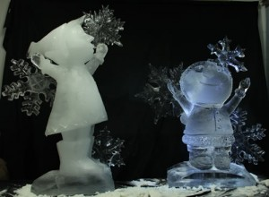 two ice sculptures