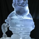 ice sculpture of old man