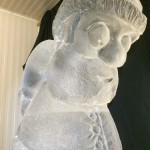 Ice sculpture of Santa