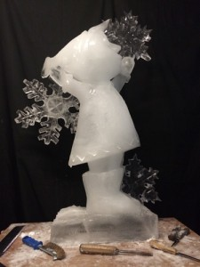 elf ice sculpture