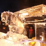 ice art at night