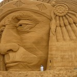 bid sand sculpture