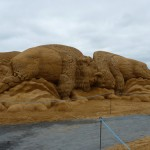 gaint sand sculpture