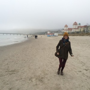 Claire on the beach in binz ,rugan
