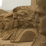 composers sand sculpture