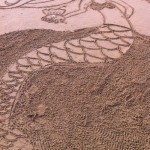 mermaid sand drawing