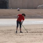 raking on the beach