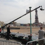 Filming Blackpool tower