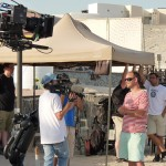 Filming in Qatar