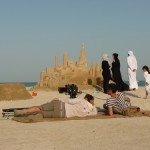 Filming advert in Qatar