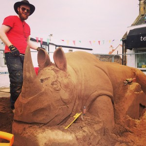 Early stages of sand Rhino