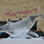 whale ice sculpture