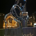 Mrs Claus ice sculpture