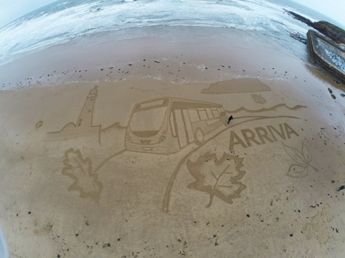 sand drawing, tynemouth