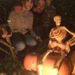 pumpkin carving and visitors
