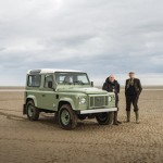 The Wilks Brothers and the new model Defender. Image courtesy of Land Rover