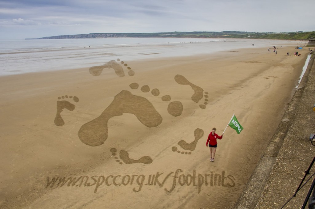 Claire Jamieson and the NSPCC legacy footprints