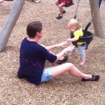 Having fun in the park with Laura and Reuben