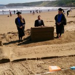 Interactive sand sculpture with the Coventry University Students