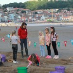 Children having fun at the beach workshop