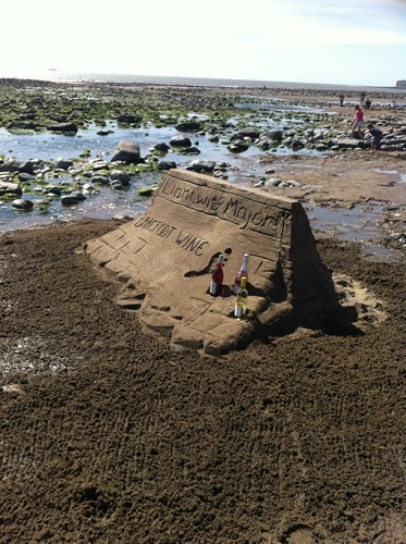 The sand sculpture at Llantwit Major