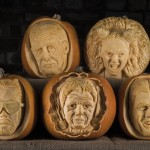 Famous faces carved into pumpkins for Halloween image by REX
