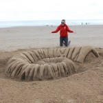 Claire Jamieson at Sand In Your Eye's Sand Sculpture Workshop