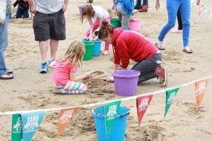 Family fun at our sand sculpture workshops