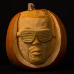 Kanye West's famous face pumpkin carving