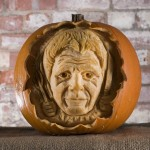 Gordon Ramsey pumpkin, image by REX