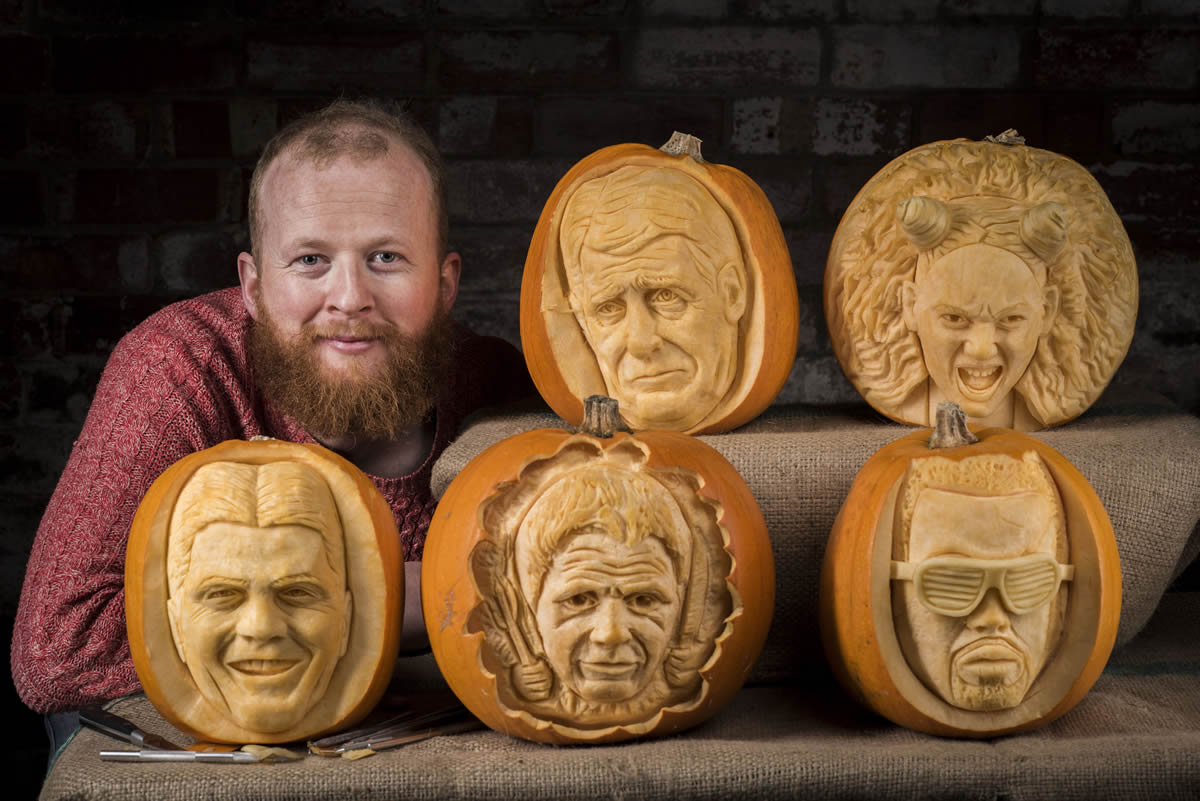 Celebrity Pumpkin Carvings For Halloween With Morrisons