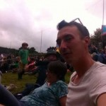 Jo Billingsley and Tom Bolland enjoying the music at Green Man
