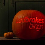 Ladbrokes Bingo logo carved into a pumpkin