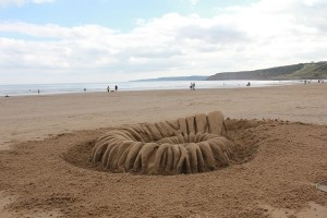 One day sand sculpture with workshops in Scarborough, Yorkshire