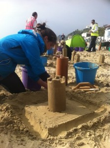 The guys at the Met Office making some great sand skyscrapers