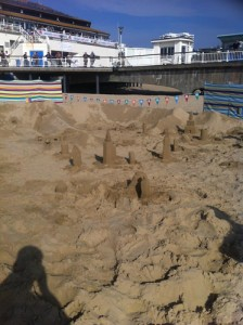 Some of the sand sculpture workshop creations