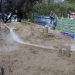 Sand sculpture workshops for kids in the Brecon Beacons UK