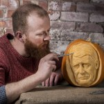 Professional Pumpkin Carver Jamie Wardley, image by REX
